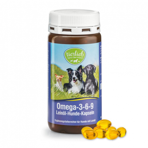 Sanct Bernhard Omega-3-6-9 Lenmagolaj kutyáknak 180 db kapszula