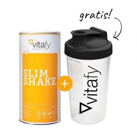 Vitafy SLIM SHAKE diétás turmixpor csokoládé 500g + ajándék shaker