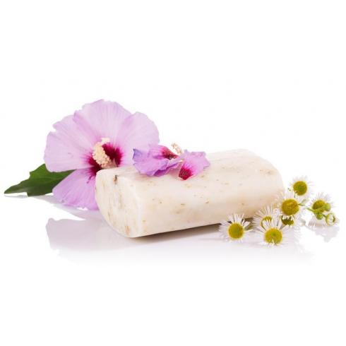 Yamuna hidegen sajtolt hibiszkusz-kamilla zacskós szappan