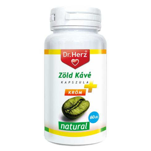 Dr.Herz Zöld Kávé +Króm +C-vitamin kapszula 200mg 60 db