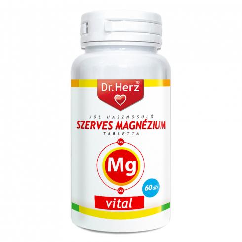 Dr. Herz  Jól Hasznosuló Szerves Magnézium + B6 + D3 60db tabletta