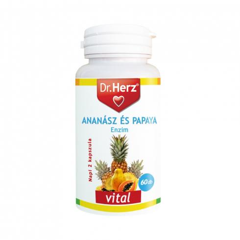 Dr. Herz Ananász Papaya kapszula 60db