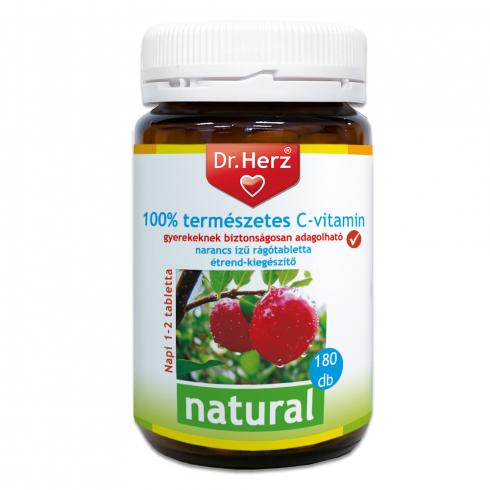 Dr. Herz  100% természetes C-vitamin Acerolából 180db