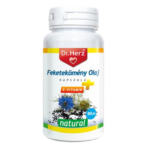Dr. Herz Feketekömény olaj kapszula 500mg 90db E-vitaminnal