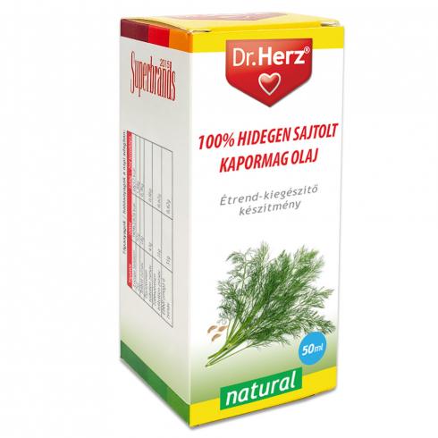 Dr. Herz  Kapormag olaj 100% hidegen sajtolt 50ml
