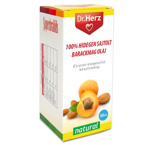 Dr. Herz  Barackmag olaj 100% hidegen sajtolt 50ml