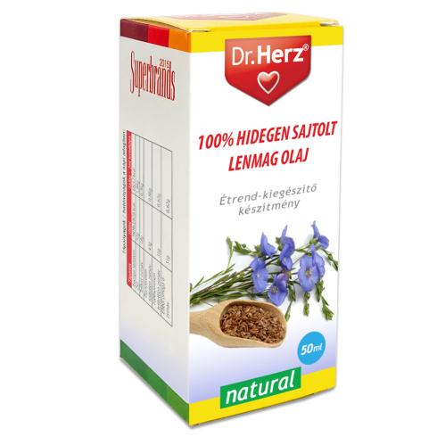 Dr. Herz  Lenmag olaj 100% hidegen sajtolt 50ml
