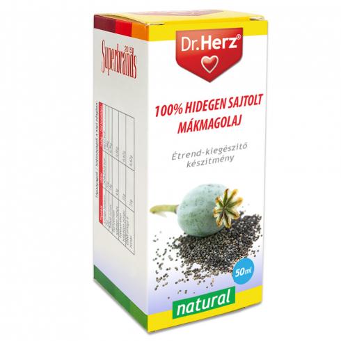 Dr. Herz  Mákmagolaj 100% hidegen sajtolt 50ml